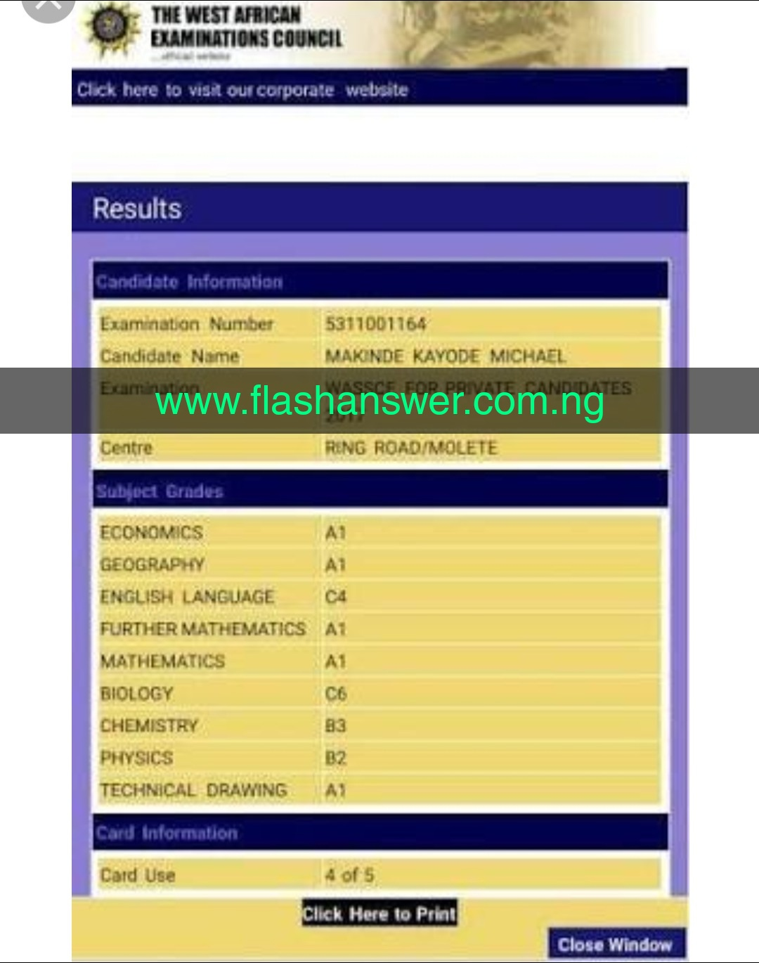 2021 waec answer